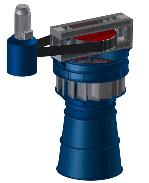 Kaplanská turbína s převodovkou-Hydro Energy S.C.